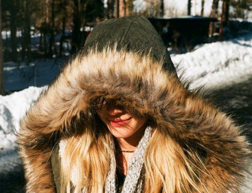 冬の毛皮の摩耗