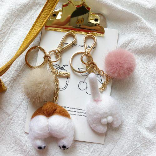 Corgi Wool Felt Keychain